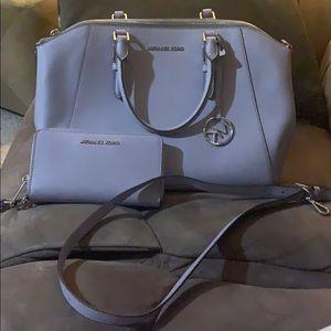 Michael Kors lavender purse large &Matching wallet